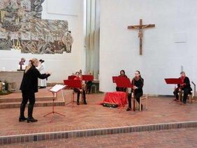 Flötenensemble im Adventsgottesdienst